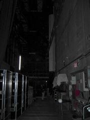 Hinterbühne links 35mm-Bildwand aufgerollt