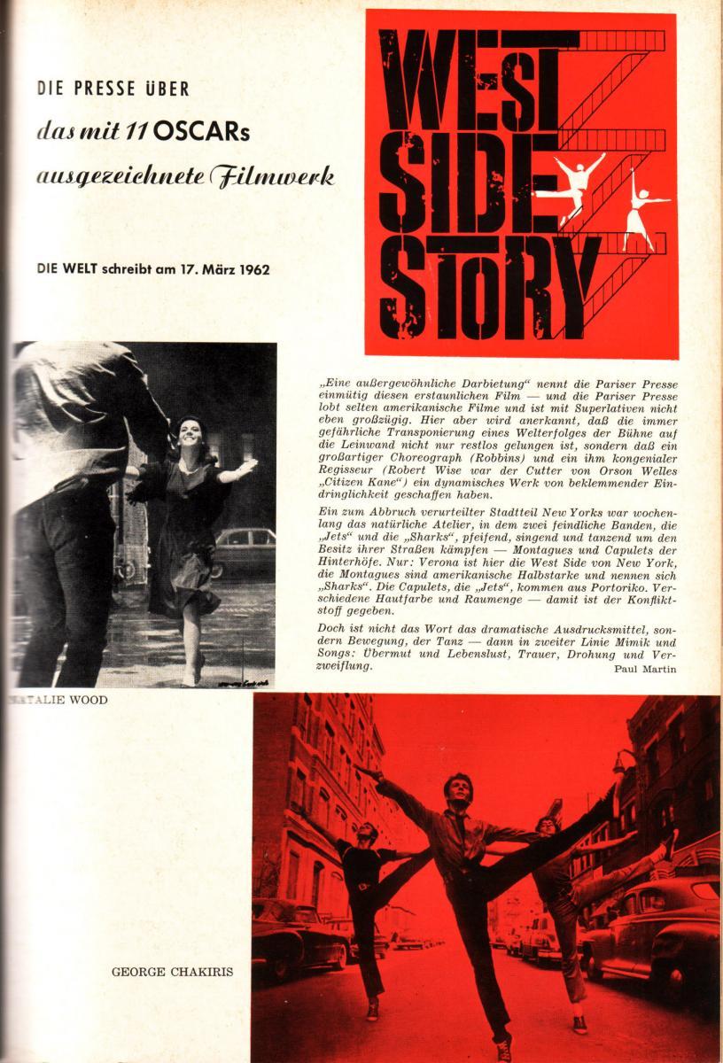 """50 Jahre """"West Side Story"""" -  70mm-Hommage der ASTOR FILMLOUNGE"""