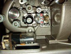 Philips EL5001 Projektor Ansicht Tonteil Abdeckungen Tonlampe & Photozelle entfernt
