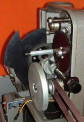 Philips El5001 Projektor Getriebeseite Ansicht Richtung Hauptwelle