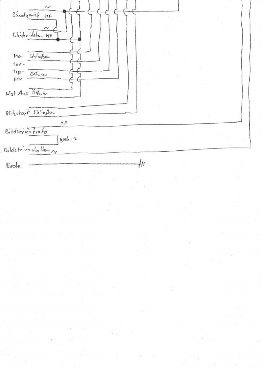 Bauer B12 Schaltplan Steuerung Blatt 2