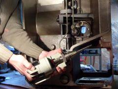 DP70 Projektorkopf Schaltgetriebe demontiert Bild 2.JPG
