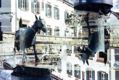 Deidesheimer Brunnenskulptur vor der Filmbörse